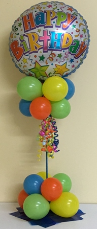 Birthday lamp post balloon