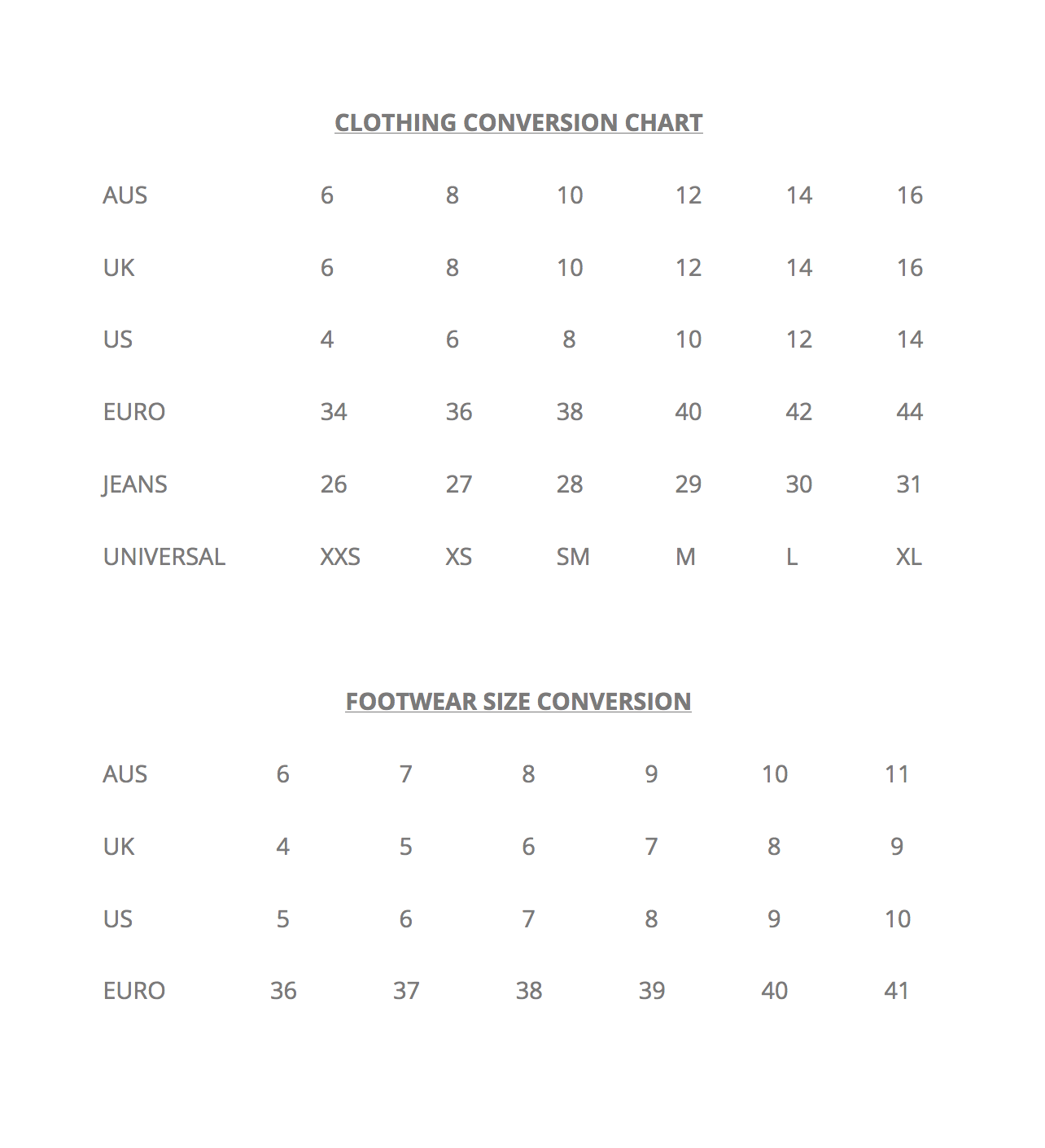 Size conversion chart lula and sasha sizing and cut will vary across brands use this chart as a general guide if you are between sizes or need any further assistance please dont hesitate nvjuhfo Gallery