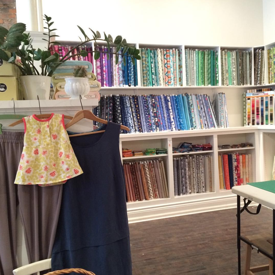 Fabric Shop And Creative Workspace In