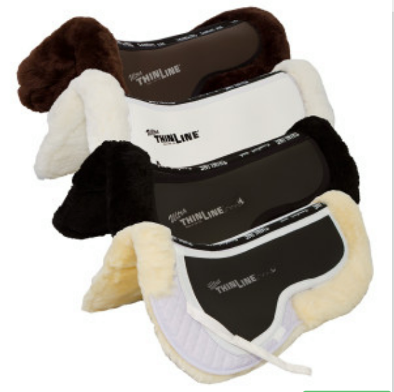 ThinLine Ultra Cotton Comfort Sheepskin Lined Half Pad