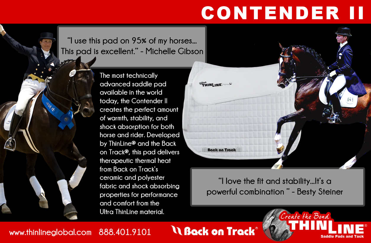 ThinLine Back on Track Contender Saddle Pad