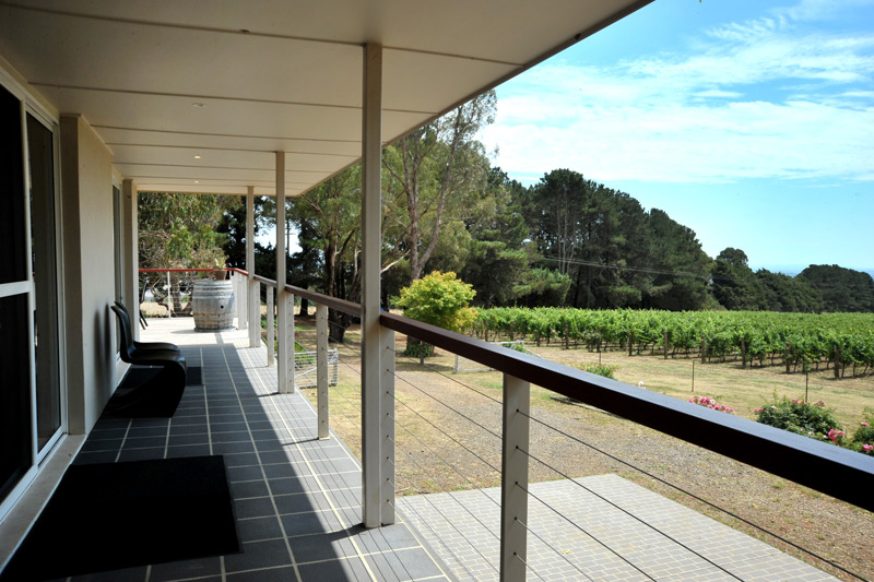 Forest Edge Vineyard balcony