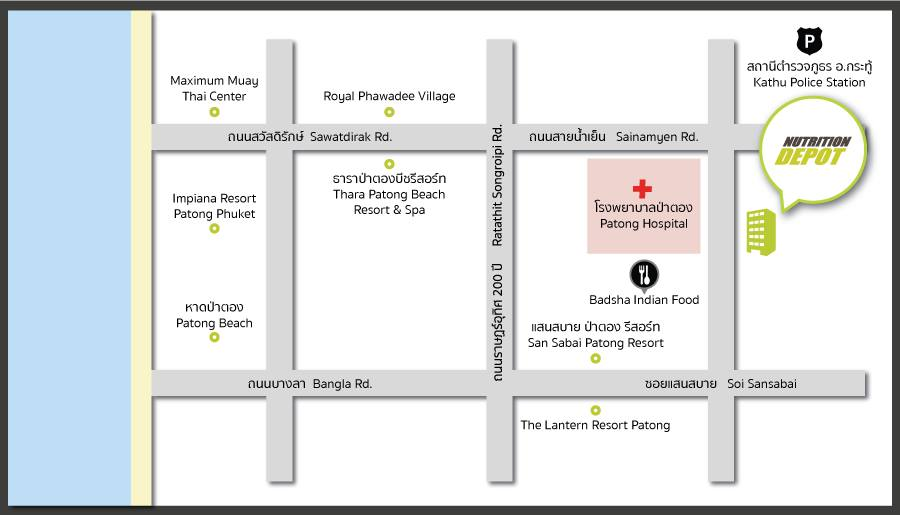 Patong Store Location Map