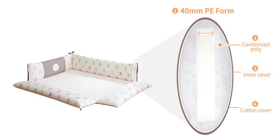 Creamhaus INUA bumper bed basic milk brown